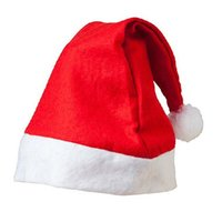 Wholesale 2016 Adults and Kids Christmas Santa Claus Hats New Year Party Cosplay Performance Decorations Props SD015