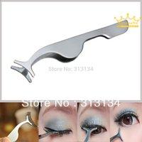 Wholesale 1pc New False Eyelashes curler Extension lash mascara Applicator Remover steel Tweezers Clip para Makeup Tool Hot gift