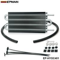 auto transmission coolers - EPMAN Row Black Aluminum Remote Transmission Oil Cooler Auto Manual Radiator Converter Kit OC lbs EP HYOC401