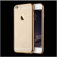 Wholesale Ultra Thin electroplate soft TPU case transparent Silicone Back coverfor iphone5 plus