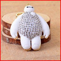 big diamond ring keychain - Crystal Diamond Big Hero Baymax keychain key rings Best Friend baymax Keychains Matel bag hangs car keyrings women Christmas Gift