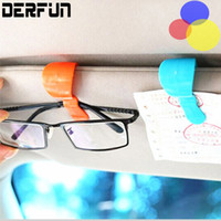 auto sunglasses - 2pcs Pair Fashion Hot Car Auto Vehicle Sun Visor Universal Glasses Sunglasses Mini Card Holder Ticket Clip