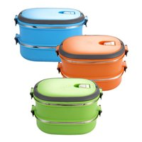 Wholesale Picnic Lunch Box Picnic Box Insulated Lunch Box Food Storage Container Thermo Server Essentials Thermal Double Layer E5M1