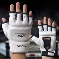 kids boxing gloves - Kids Adult Half Finger Fight Boxing Boxeo MMA Muay Thai Kick Training crossfit Gloves Mitts Sanda Karate TKD Protector