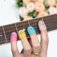 Wholesale Guitar Fingertip Protectors Silicone Finger Guards For Ukulele Guitar Accessories L yards