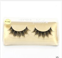Wholesale A14 Supernatural Lifelike handmade false eyelash D strip mink lashes thick fake faux eyelashes Makeup beauty