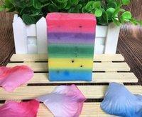 Wholesale 50pcs Hot sale Gluta Whitening Soap rainbow soap OMO White Mix Fruits Color Alpha Arbutin Anti Dark Spot