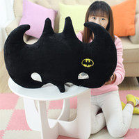 batman plush pillow - 65cm Creative Pillow Film Batman Logo Car Cushion Stuffed Plush Doll Toy Gift For Children s Day