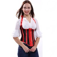 Wholesale Hot Sale Sexy Red Stripe Lingerie Underbust Corset Costumes Slimming Shaper XL XL In Stocks Plus Size