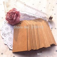 Wholesale Blank price tag Kraft paper Gift tag without cords DIY brown paper kraft label paper TAGGING