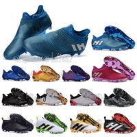 Wholesale 2016 New mens outdoor ACE PureControl FG AG fooTbaLls bOOTs X Purechaos soccer shoes Messi Pureagility sOcCEr cLEAts Primeknit