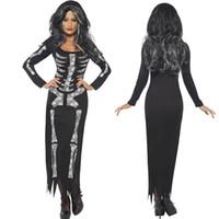 Wholesale Europe Station Explosion European Game Uniform Halloween Party Dresses Human Jumpsuit Skeleton Terror Spirit Festival Clothin XXL