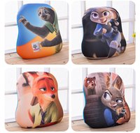 Wholesale new zootopia pillow pendants rabbit judy hopps fox nick plush doll style animal cartoon doll