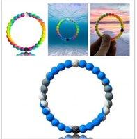 Wholesale Mix Size S M L XL Mix Colors beads bracelet seaside memorial Silicone bracelet with Tags