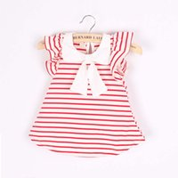 baby product line - 2016 New Summer Dress Hot Product Summer Cute Baby Girl Dress Cotton Polka Dot Striped Dress Baby Girl Clothes Infants Princess Dress