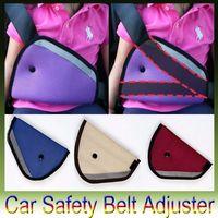 Wholesale Triangle Child Car Safety Belt Adjuster Wine Red Blue Beige Baby Car Safety Belt Child Resistant Safety Belt Protector Padding