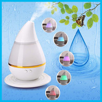 Wholesale 2016 New Water drop Mini Ultrasonic Humidifier USB Humidifier Car Aromatherapy Essential Oil Diffuser Atomizer Air Purifier Mist Maker