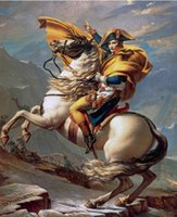 Wholesale Napoleon Bonaparte on Horse French Painting Pure Handpainted Famous Portrait Art Oil Painting On High Quality Canvas In Any Custom Size