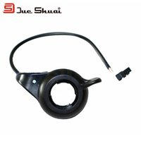Wholesale Electric Bicycle Black Twist Throttle Shift Lever with14 cm Cable Derailleur Bike Moto Thumb Throttle Cycling Deore Accessory