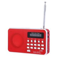 Wholesale L Portable Multifunctional FM Radio MP3 Player Support TF Card Playing AUX Input for Mobile phone PC MP4 MP3 MP5 PSP