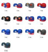 baseball cartoon characters - New Fashion Top Quality Colors Superman Cartoon Cap Diamond Snapbacks Hip Hop Baseball Caps Adjustable Snapbacks For Mens and Womens