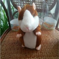 best hamsters - talking hamster cute talking mouse animals plush toys children kids educational toys brown and gray boxed the best gift