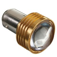 Wholesale New Arrival BAY15D P21 W Super Red Car Auto Light Source LED Turn Tail Brake Projector Lens Bulb Lamp DC12V