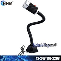 Wholesale NHM W W LED machine work lamp with CM gooseneck V V V industrial lighting fixture for machine cnc lathe workshop