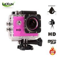Precio de Camera underwater-HOT HD 720P Acción Cámara digital de 2.0 pulgadas pantalla de la cámara de fotos bajo el agua 30m cámara resistente al agua Cámaras Mini grabador de vídeo
