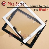 Wholesale Original Black White For Apple ipad Touch Screen Digitizer Touch Glass With Home Button