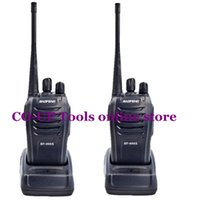 Wholesale 2Pcs set baofeng BF S Walkie Talkie Portable Radio BF666s W CH UHF MHz BF S Comunicador Transmitter Transceiver