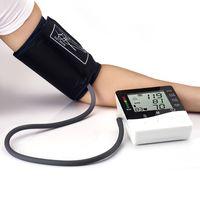 Wholesale Arm blood pressure monitor health care monitors tonometer pulsometro Digital Upper Portable sphygmomanometer DHL