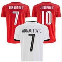 austria quality - 16 Austria home red soccer jerseys away white designer short sleeve shirt top thai quality soccer uniform football suit