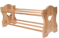 Wholesale Wooden Furniture Wooden Two Layer Shoe Rack