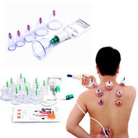 acupuncture treatment - 60sets Cupping Kit Body Massage Magnetic Treatment Cups Set Chinese Vacuum Cupping Device Acupuncture Cupping Sets