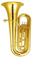 Wholesale 1 Piston Tuba Bb Tone Yellow Brass Body mm Height with Foambody Case EMS Brass wind instruments