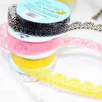 Wholesale Scrapbooking tape for DIY decoration paper tape for masking self adhesive tape for photo album Multi Colors Lace diary decoration sticker