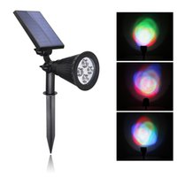 abs spotlight - 4LED ABS Waterproof Cottage Style Black Solar Power Energy Garden Light Spotlight Outdoor Lawn Landscape Yard Decoration Lamps