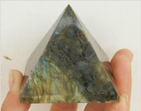 Wholesale beautiful Natural labradorite QUARTZ CRYSTAL pyramid Moonstone Pyramid HEALING mm mm