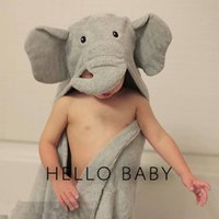 baby bedding fishing - 2016 Children Bath Towels Robes Baby D Cute Cartoon Elephant Fish Bathroom Towels Kids Swimming Cotton Beach Towel Swaddle Bedding Blanket