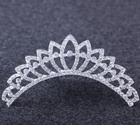 Wholesale Europe and America Crown Princess Bride wedding hair jewelry hair accessories crown Frozen factory direct