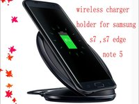 Wholesale Fast Wireless Charger Wireless Charging Pad Stand Holder for Samsung Galaxy S7 Edge S6 Edge Plus Note with Retail Package factory outlet