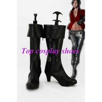 ada wong cosplay - Freeshipping anime Resident Evil Ada Wong Cosplay Boots shoes Hand made for Halloween Christmas