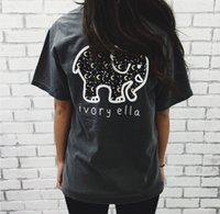 Wholesale New women s fashion Ivory Ella Women short sleeves Summer Tops Elephant Print T Shirt Sexy Slim fit