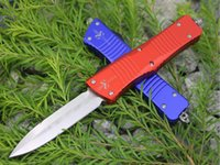 Wholesale Microtech Tyrannosaurus blade C HRC Aerospace aluminum handle Pocket knife survive camping outdoor knife EDC tools