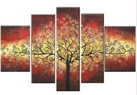 acrylic paintings trees - Hand Painted Piece Abstract Oil Paintings On Canvas Hang Picture For Living Room Decor Acrylic Painting Trees
