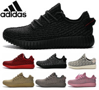 Wholesale Adidas Original Kanye West Yeezy Boost Pirate Black Low Sports Running Shoes Women and Men Sneakers Training Boots Red Eur36 Cheap