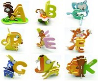 Wholesale 2016 Strange New Miniatures Animals Toy Three dimensional Puzzle Letters ABC Children s Intelligence Activity Amusement Toys Gifts