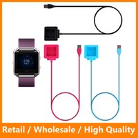 Wholesale 2016 Newest Magnetic Wireless Charging Cradle Charger Dock for Fitbit Blaze Smart Watch Charger Black Color