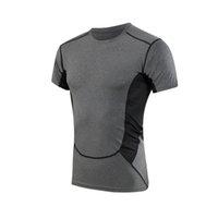 baseball compression shorts - Hot Men s Compression Base Layer Gear Tights Bodybuilding GYM Basketball Baseball Jersey Short Sleeve Sports Shirts